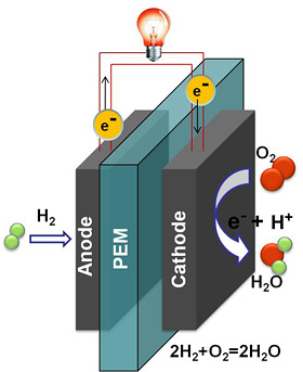 Hydrogen Fuel Cells >> New catalyst of platinum nanoparticles could lead to stall-free stable fuel cells | Cornell ...