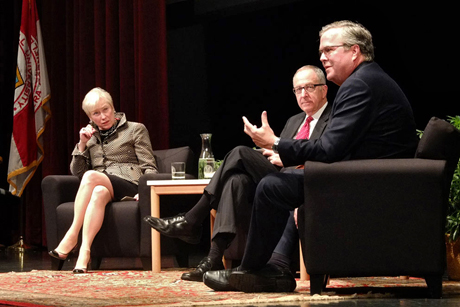 Nancy Zimpher, David Skorton and Jeb Bush