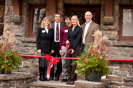 ribbon-cutting at Chesterton House