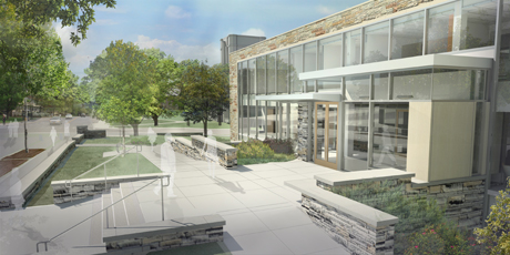 Gannett health building rendering