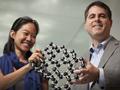 Pinshane Huang and Professor David Muller