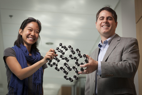 Pinshane Huang and Professor David Muller
