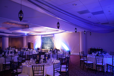 The Carrier Ballroom prepared for the 88th (2013) Hotel Ezra Cornell Gala Banquet.