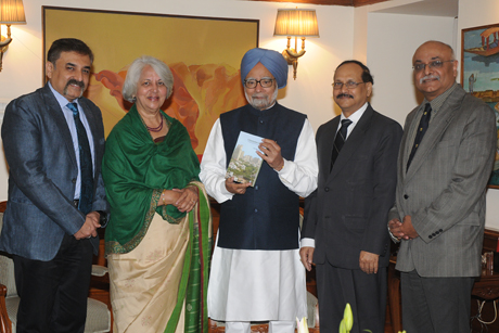 publisher officials with prime minister