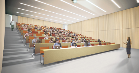 rendering of lecture hall