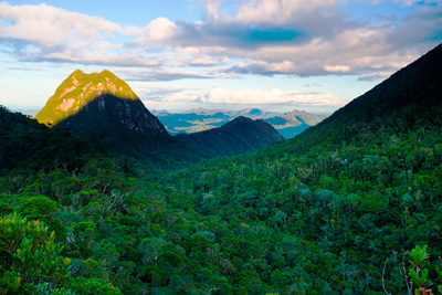 Mountainous Marojejy National Park in Madagascar