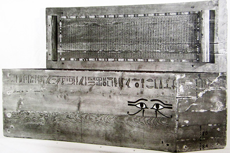 A view of Ipi-ha-ishutef's coffin when originally sampled in 1938.