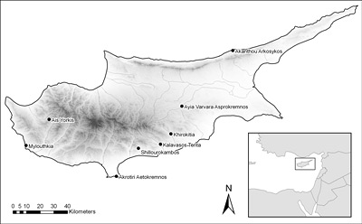 map of Cyprus archaeological sites