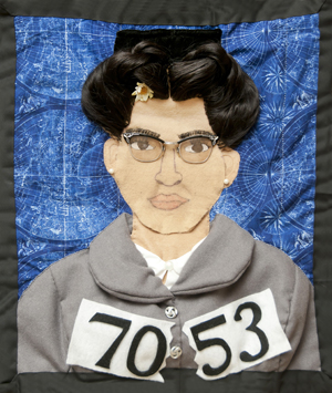 Richardson's quilt of Rosa Parks