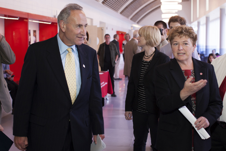 Charles Schumer and Kathryn Boor