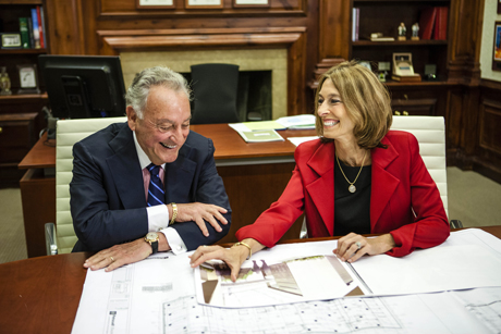 Sanford Weill and Laurie Glimcher