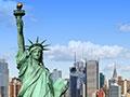 New York City postcard view