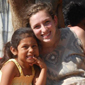 Cornell student with Nicaraguan child