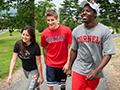 students wearing Cornell gear