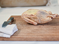 duck on cutting board