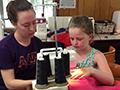Student making skirt