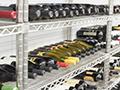 wine bottles in wine library