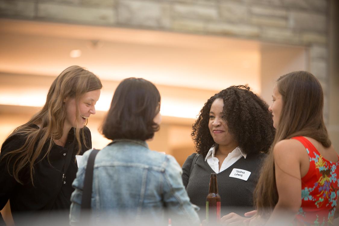 Tasha Lewis at new female faculty reception