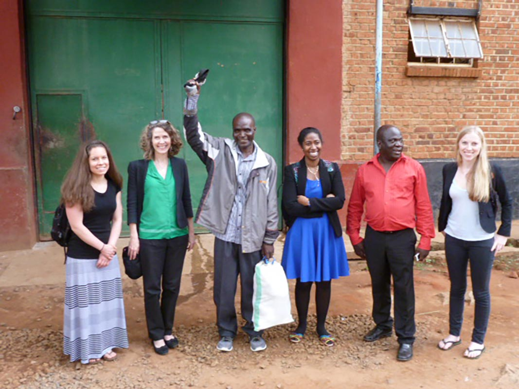 Student team in Malawi